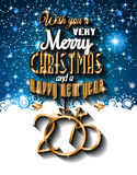 Un fondo di Natale felice e da 2015 nuovi anni Immagine Stock Libera da Diritti