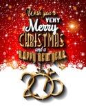 Un fondo di Natale felice e da 2015 nuovi anni Immagine Stock