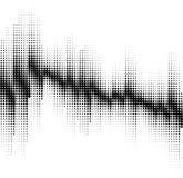 Un fondo di semitono in bianco e nero astratto Fotografia Stock Libera da Diritti