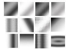 Un fondo di semitono in bianco e nero astratto Immagini Stock Libere da Diritti