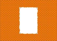 un fondo di un muro di mattoni con l'annuncio Immagine Stock