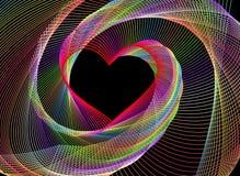 Un fondo en forma de corazón del fractal abstracto stock de ilustración