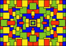 Un fondo geometrico astratto dei quadrati colorati Immagini Stock