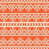 Un fondo inconsútil del vector anaranjado con el modelo hermoso elegante Imagen de archivo libre de regalías