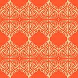 Un fondo inconsútil del vector anaranjado con el modelo hermoso elegante Fotos de archivo libres de regalías