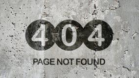 Un fondo non trovato di 404 pagine Immagini Stock Libere da Diritti
