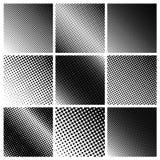 Un fondo quadrato di nove punti Elementi di vettore Fotografia Stock