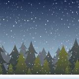 Fondo del bosque del invierno stock de ilustración