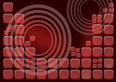 Fondo de los cuadrados rojos Imagenes de archivo