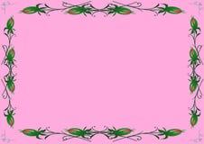 Un fondo rosa con i germogli rosa Immagine Stock