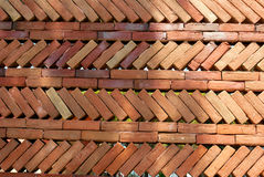 Un fondo rosso del muro di mattoni Fotografia Stock Libera da Diritti