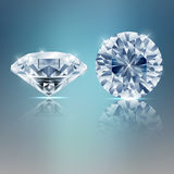 Un fondo scintillante di due diamanti Immagini Stock