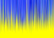 Rayas azules en fondo amarillo Fotografía de archivo libre de regalías