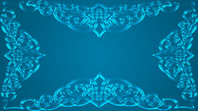 Un fondo verdastro-blu saturato con la struttura Fotografia Stock Libera da Diritti