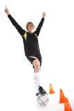 Un footballeur photos libres de droits