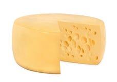 Un formaggio rotondo della rotella immagini stock
