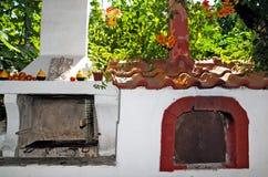Un forno tradizionale del mattone per cucinare Immagine Stock Libera da Diritti
