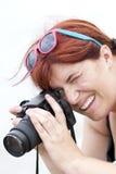 Un fotografo sul lavoro Immagine Stock