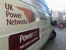 Un fourgon des réseaux BRITANNIQUES de puissance images libres de droits