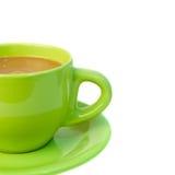 Un fragment d'un plan rapproché de tasse de café Image libre de droits