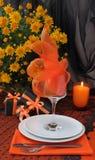 Un fragment d'une table de fête pour Veille de la toussaint Image libre de droits