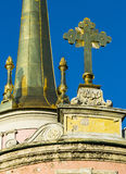 Un fragment de la flèche du château de Mikhailovsky Photos libres de droits