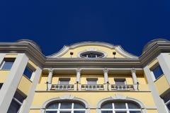 Un fragment du bâtiment sur la rue Arbat, 10 de Moscou Photographie stock libre de droits