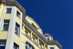Un fragment du bâtiment sur la rue Arbat, 10 de Moscou Images stock