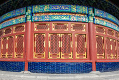 Un fragment du mur du temple du Ciel Image stock