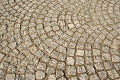 Un fragment du trottoir en pierre Photos libres de droits