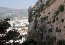 Un fragmento de la fortaleza Fortezza, Rethymno Grecia crete imagen de archivo libre de regalías