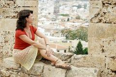 Un fragmento de la fortaleza Fortezza, Rethymno Grecia crete fotos de archivo