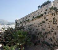 Un fragmento de la fortaleza Fortezza, Rethymno Grecia crete foto de archivo libre de regalías