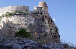 Un fragmento de la fortaleza Fortezza, Rethymno Grecia crete fotos de archivo libres de regalías