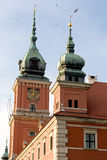 Un fragmento de un edificio antiguo en Varsovia Fotografía de archivo libre de regalías