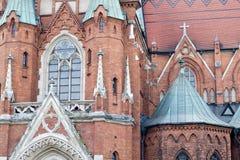 Un fragmento de una iglesia antigua en Kraków Imágenes de archivo libres de regalías