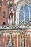 Un fragmento de una iglesia antigua en Kraków Imagenes de archivo