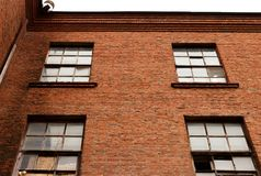 Un fragmento del edificio industrial Imagenes de archivo