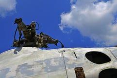 Un fragmento del helicóptero soviético viejo Mi-2 Foto de archivo