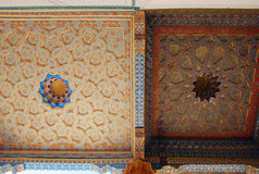Un fragmento del techo pintado de la mezquita en la fortaleza de la arca Imagen de archivo