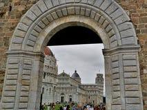 Un frammento del complesso storico di Pisa, Italia immagine stock libera da diritti