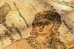 Un frammento di un mosaico antico Villa del Casale. Immagini Stock Libere da Diritti