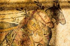 Un frammento di un mosaico antico Villa del Casale. Fotografia Stock