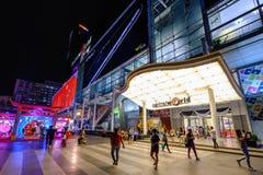 Un frente hermoso de la plaza central del mundo en el centro de la ciudad de la explosión Imagen de archivo libre de regalías