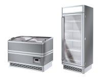 Un frigorifero di due annunci pubblicitari Fotografie Stock