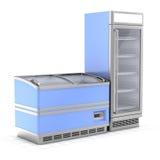 Un frigorifero di due annunci pubblicitari Fotografia Stock