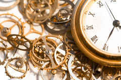 Orologio del movimento a orologeria Immagini Stock