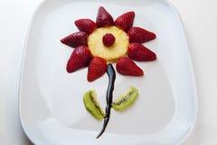 Un fruit de fleur Photo stock
