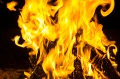 Un fuego brillante Imagenes de archivo
