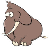 Un fumetto del vitello dell'elefante Immagini Stock Libere da Diritti